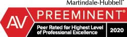 Martindale Hubbell AV Preeminent 2019 | Peer Rated for Highest Level of Professional Excellence